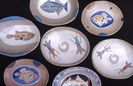 Jill Fanshawe Kato - Oval Fish Dishes