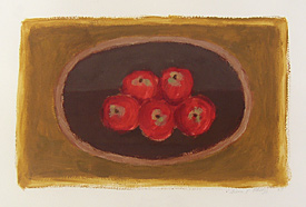 'Apples on a dish I