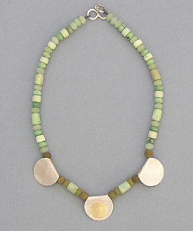 Green Turquoise and Jade Necklace