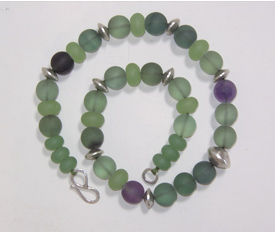 Necklace, Flourite and Silver