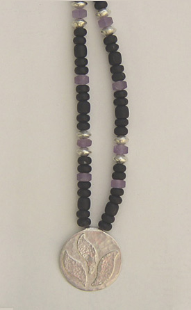 Onyx, Ametrine and Silver Necklace