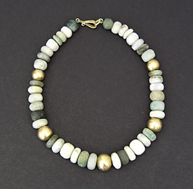 Gold and Jadeite Necklace