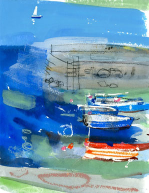 Harbour wall & Boats  Jessica Bright