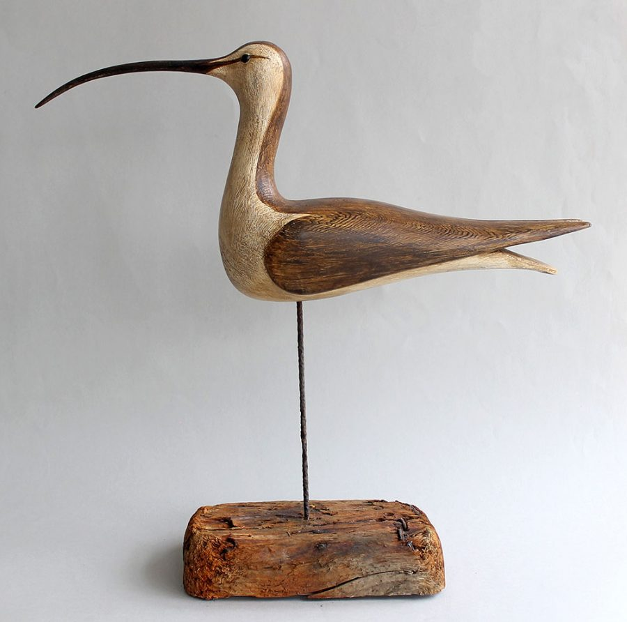 AM1 - Shorebird - carved, painted wood - 40x40x12cm - £750 S